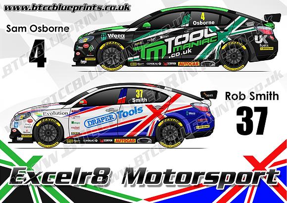 2019 Excelr8 Motorsport Team Poster