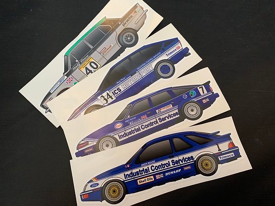Andy Rouse Champion Sticker Set