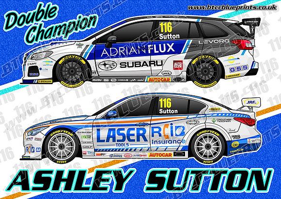 Ashley Sutton Double Champion Poster