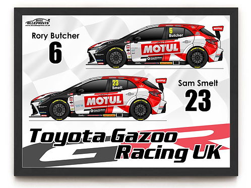 Toyota Gazoo Racing UK 2021 A4 Poster