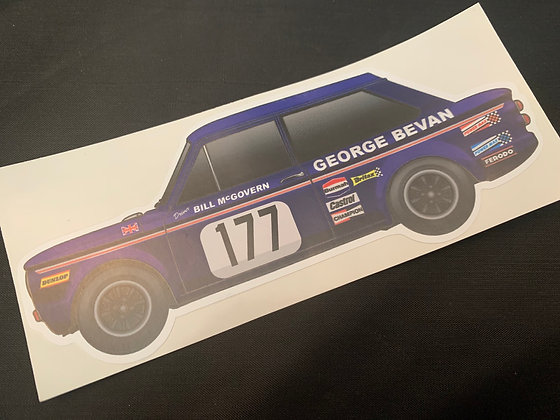 Bill McGovern 1970 Champion Sticker