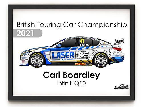 Carl Boardley 2021   Laser Tools Racing   A4 Poster
