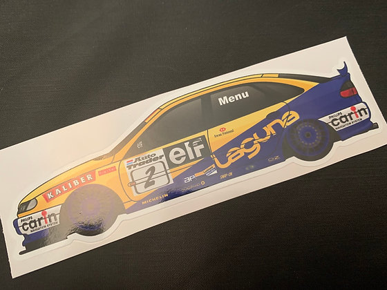 Alain Menu 1997 Champion Sticker