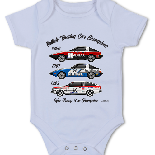 Win Percy 3 x Champion | Baby Grow