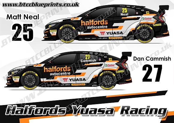 2019 Halfords Yuasa Racing Team Poster