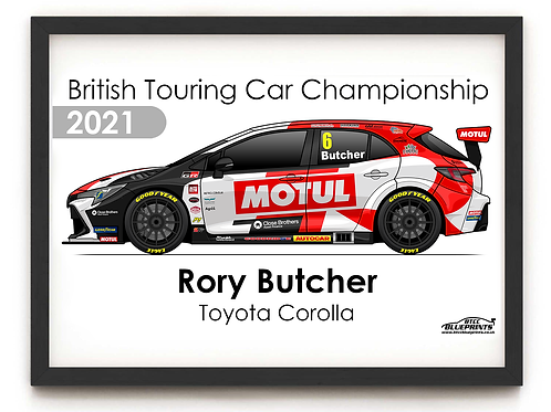 Rory Butcher 2021 | Toyota Gazoo Racing UK | A4 Poster