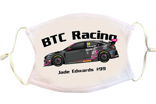 Jade Edwards 2021   BTC Racing   Face Mask