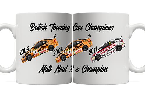 Matt Neal 3 x Champion 11oz Mug