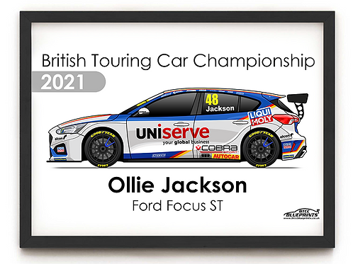 Ollie Jackson 2021 | Motorbase Performance | A4 Poster