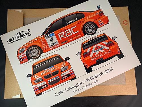 Colin Turkington Drivers' Champion 2009 Poster