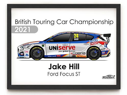 Jake Hill 2021 | Motorbase Performance | A4 Poster
