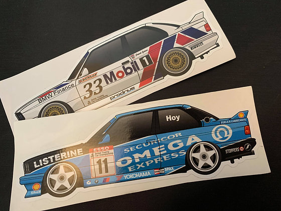 BMW E30 M3 BTCC Sticker Set