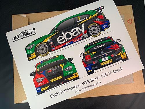 Colin Turkington Drivers' Champion 2014 Poster