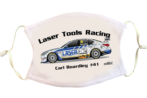 Carl Boardley 2021   Laser Tools Racing   Face Mask