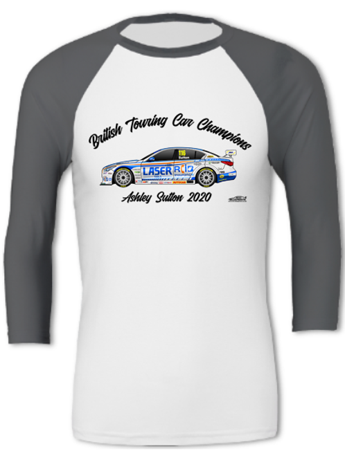 Ashley Sutton 2020 Champion | Adult Unisex | 3/4 Sleeve T-Shirt
