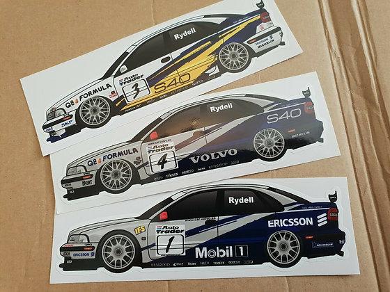 Rickard Rydell Volvo S40 BTCC Sticker Set