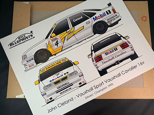 John Cleland Drivers' Champion 1995 Poster