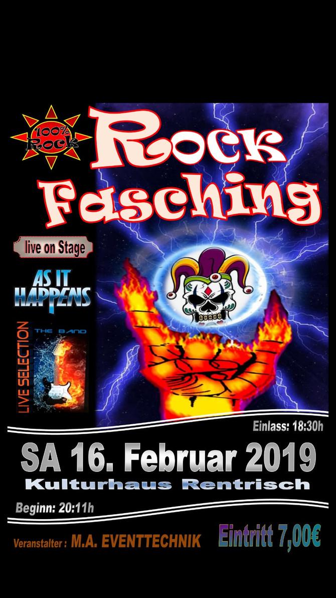 Ankündigung: Rentrisch Rockfasching 2019