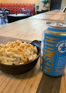 Craft beer with Mac & Cheese