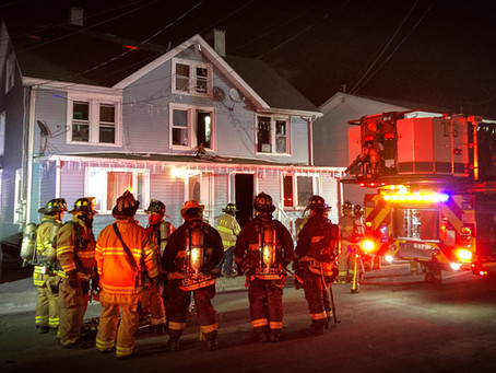 Early morning fire at 12 Knox Ave