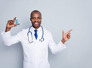 Photo of family doc dark skin guy hold i