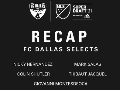 FC Dallas' Sections in the 2021 Superdraft
