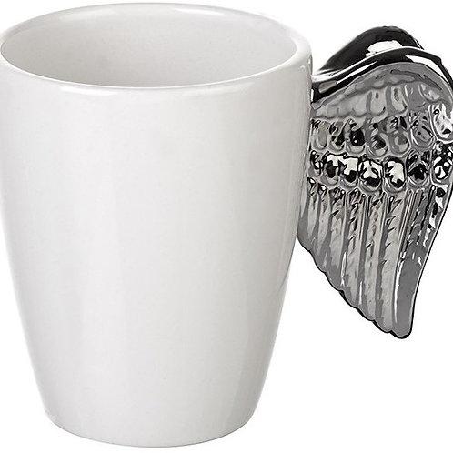 Silver Angel Wings Mug