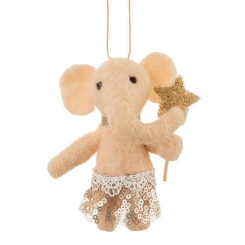 Elephant Hanging Felt Decoration
