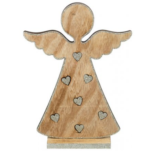 Wooden Angel Heart Design
