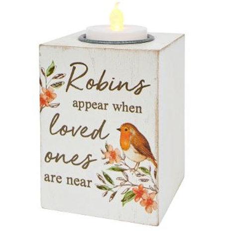 Robin T-Light Holder / Robins Appear