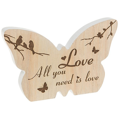 Wooden Butterfly LOVE