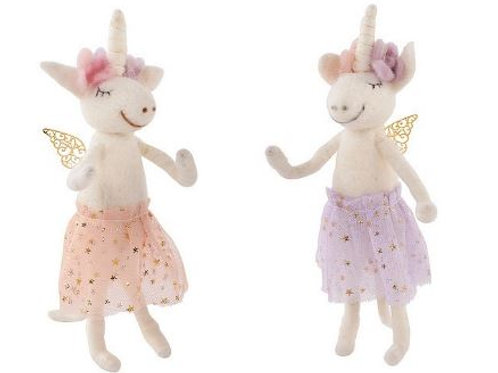 Felt Unicorn with Angel Wings