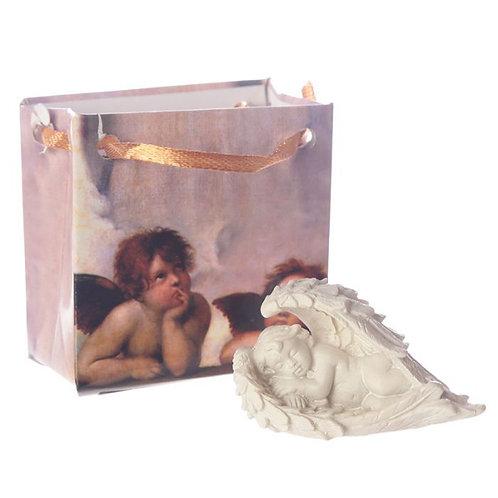 Little Cherub Sleeping in Angel Wings | Comes in cute Gift Bag