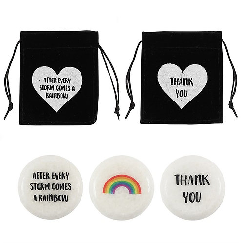 Rainbow Stones | Thank You / After every Storm comes a Rainbow Pebble