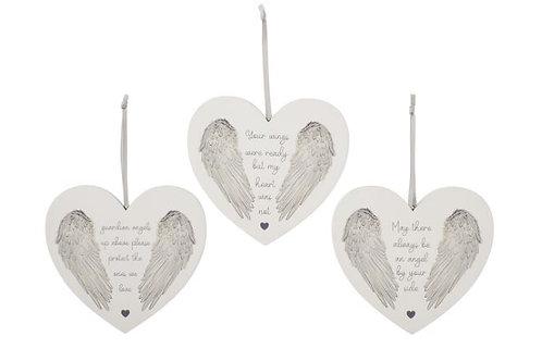 Angel Wings Heart Hanger
