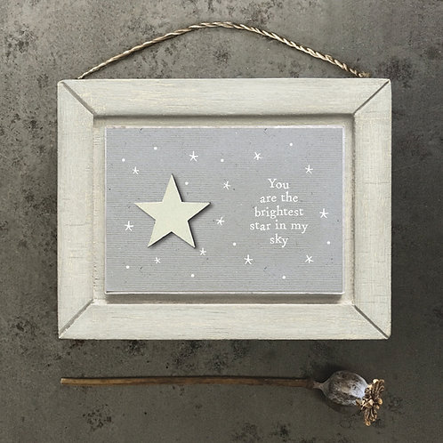 East of India - You Are The Brightest Star Picture Frame