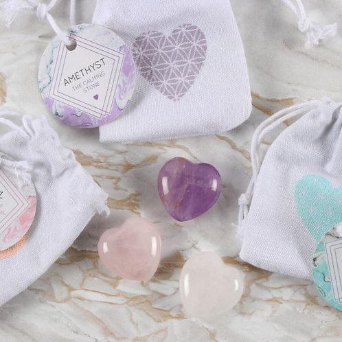Crystal Heart Stones