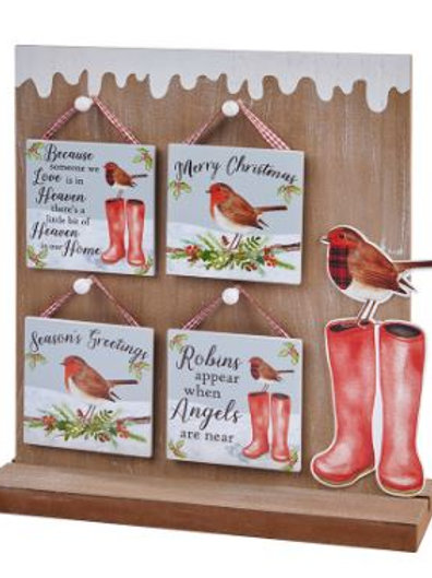 Robin Wooden Hanging Wall / Quote Sign / Christmas Signs/Decorations