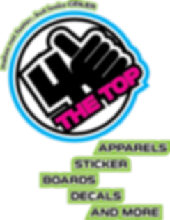 4THETOP APPARELS STICKER BOARDS DECALS AND MORE