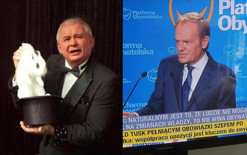 Jarosław Kaczyński, Donald Tusk, Polska, scena polityczna