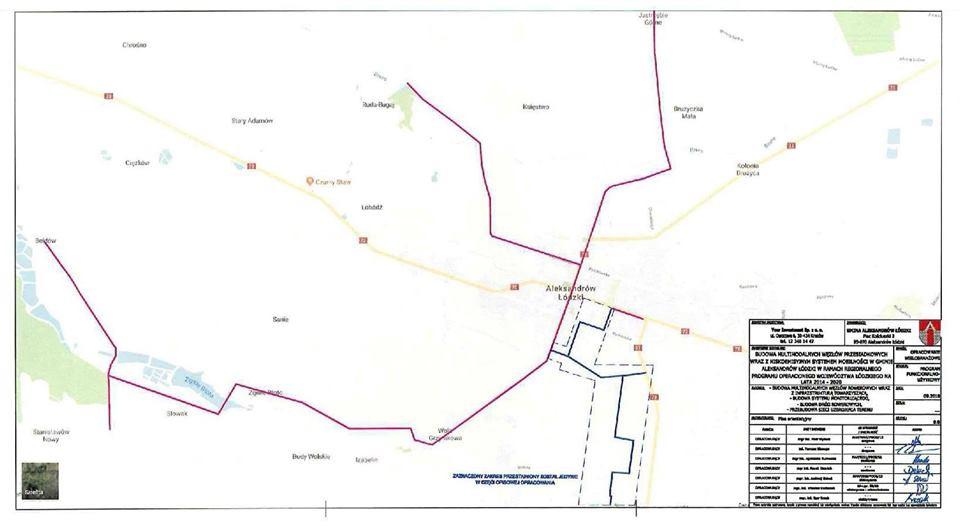 mapa pokazuje przebieg ścieżek rowerowych