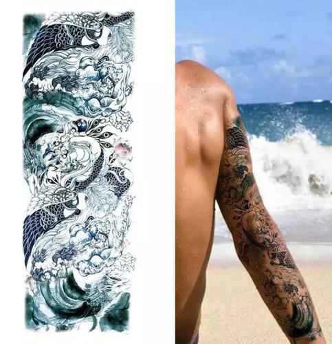 f2adcfbab Temporary Tattoo -Creatures Full Arm Sleeve