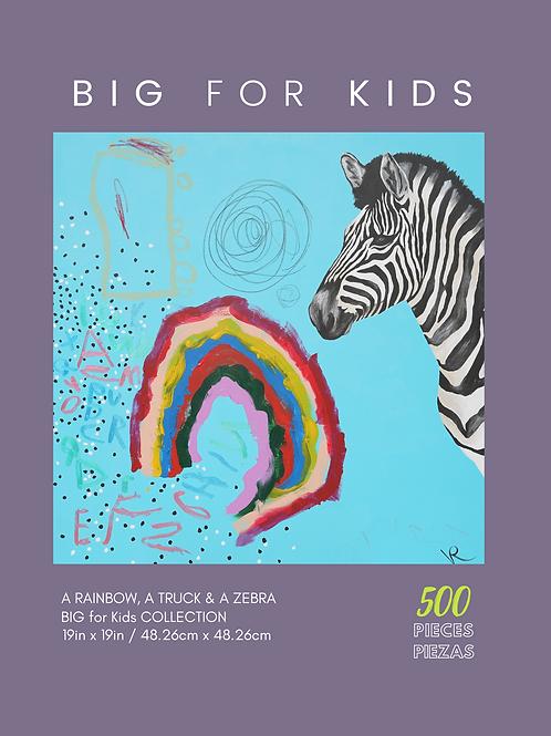 A Rainbow, a Truck & a Zebra- 500 Pieces