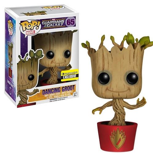 Dancing Groot (Red Pot) EE Exclusive - Guardians of the Galaxy, Funko Pop! Vinyl