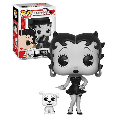 Betty Boop with Pudgy Black & White Funko Pop! Vinyl Animation