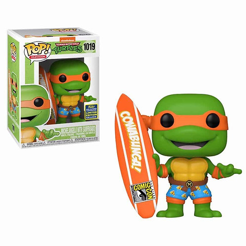 Michelangelo (With Surfboard) SDCC 2020 Shared Stiker - Funko Pop Vinyl