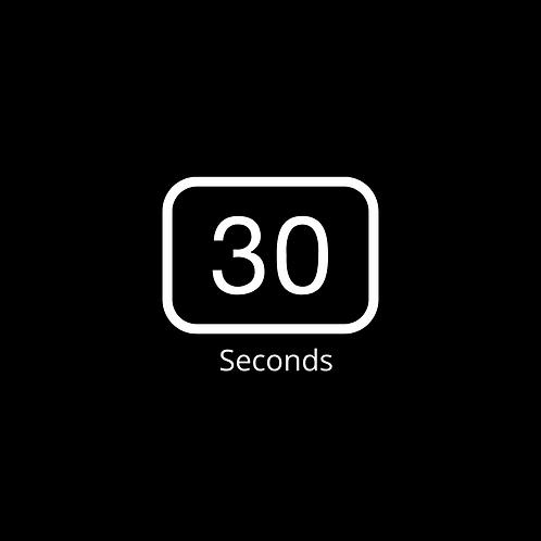 Zoom Timer Background 30 sec Black