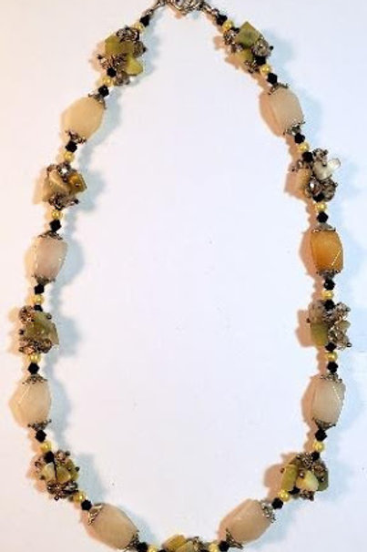 """20"""" long necklace with clusters"""