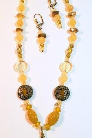 """18"""" Amber Colored Beaded"""