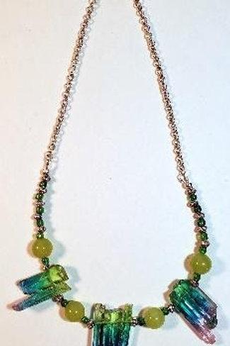 """17 ½"""" fun necklace with multi-colored quartz"""